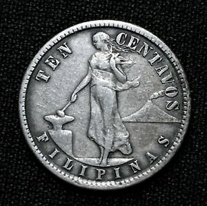 Click now to see the BUY IT NOW Price! 1907 S PHILIPPINES 10 CENTAVOS KM 169 NICE SILVER FIRST YEAR  COIN