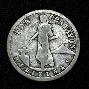 Click now to see the BUY IT NOW Price! 1917 S PHILIPPINES 10 CENTAVOS KM 169 NICE SILVER  COIN