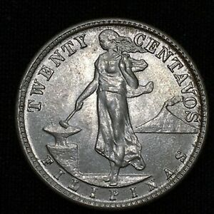 Click now to see the BUY IT NOW Price! UNCIRCULATED 1944 D PHILIPPINES 20 CENTAVOS KM 182 MINT STATE    SILVER COIN