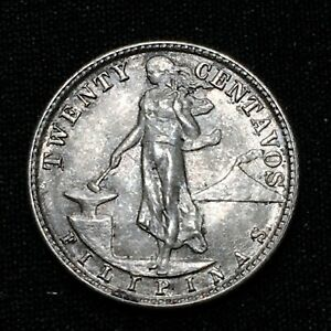 Click now to see the BUY IT NOW Price! 1945 D PHILIPPINES 20 CENTAVOS KM 182 NICE SILVER LAST YEAR COIN