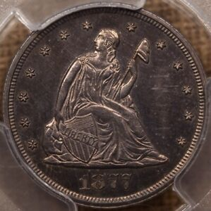Click now to see the BUY IT NOW Price! 1877  DATE TWENTY CENT PIECE PCGS PR64 BEAUTIFUL    DAVIDKAHNCOINS