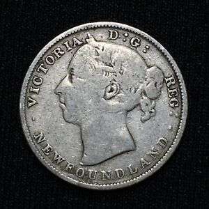 Click now to see the BUY IT NOW Price! 1890 CANADA NEWFOUNDLAND 20 CENTS KM 4 SILVER  KEY DATE COIN