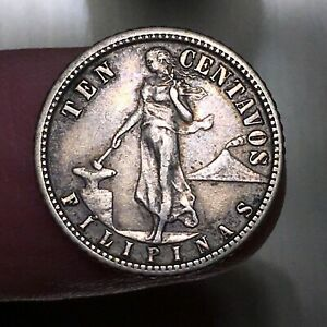 Click now to see the BUY IT NOW Price! 1908 S PHILIPPINES 10 CENTAVOS KM 169 NICE SILVER BETTER DATE  COIN