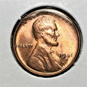 Click now to see the BUY IT NOW Price! 1946 S LINCOLN WHEAT CENT BRONZE PENNY HIGH GRADE RED COIN   BROADSTRIKE   ERROR