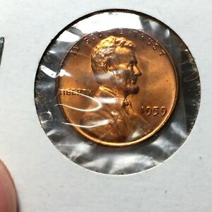 Click now to see the BUY IT NOW Price! 1959 LINCOLN MEMORIAL CENT BRONZE PENNY HIGH GRADE RD COIN   BROADSTRIKE   ERROR