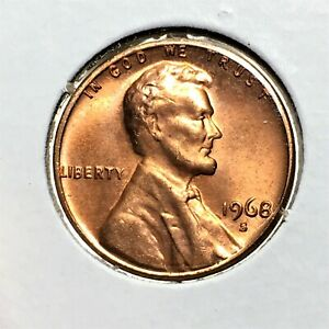 Click now to see the BUY IT NOW Price! 1968 S LINCOLN MEMORIAL CENT HIGH GRADE RED COIN   BROADSTRIKE   ERROR