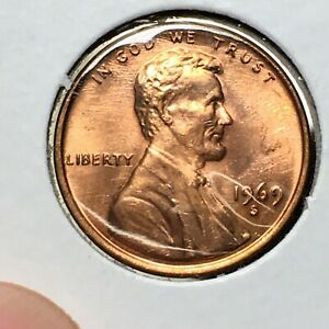 Click now to see the BUY IT NOW Price! 1969 S LINCOLN MEMORIAL CENT HIGH GRADE RED COIN   BROADSTRIKE   MINT ERROR