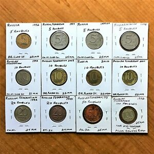 Click now to see the BUY IT NOW Price! LOT OF 12 RUSSIA 1992 TO 2011 RUSSIAN FEDERATION 5 10 20 50 100 RUBLE COINS