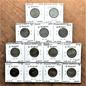 Click now to see the BUY IT NOW Price! LOT OF 13 RUSSIA 1997 TO 2012 RUSSIAN FEDERATION 2 RUBLE COINS X NICE VARIETY