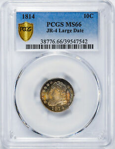 Click now to see the BUY IT NOW Price! 1814 CAPPED BUST 10C PCGS MS 66