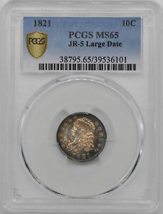 Click now to see the BUY IT NOW Price! 1821 CAPPED BUST 10C PCGS MS 65