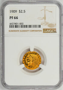 Click now to see the BUY IT NOW Price! 1909 INDIAN $2.5 NGC PR 66