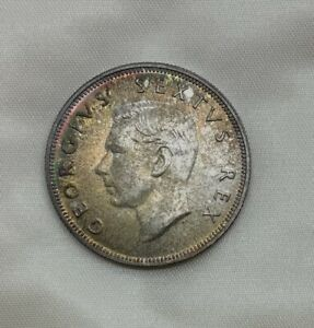 Click now to see the BUY IT NOW Price! 1952 SOUTH AFRICA GEM PROOF HALF CROWN SILVER GEORGE VI PLEASING  TONER