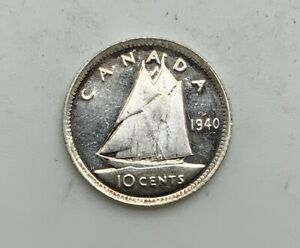 Click now to see the BUY IT NOW Price! 1940 GEORGE VI 10 CENTS VIRTUAL MINT STATE GRADE PL REVERSE CAMEO INTERESTING