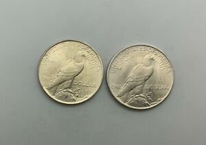 Click now to see the BUY IT NOW Price! 1922 & 1923 SILVER DOLLAR LUSTROUS COINS PAIR NICE FLASHY COINS