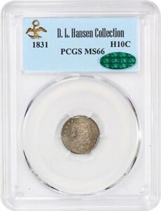 Click now to see the BUY IT NOW Price! 1831 H10C PCGS/CAC MS66   EARLY HALF DIMES   LOVELY AND ORIGINAL GEM