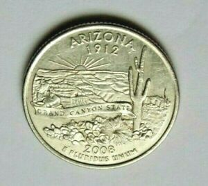 USA 2008P ARIZONA STATE QUARTER 25 CENT COIN