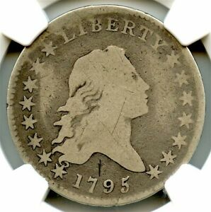 1795 FLOWING HAIR LIBERTY SILVER HALF DOLLAR NGC GOOD DETAILS NICE COIN