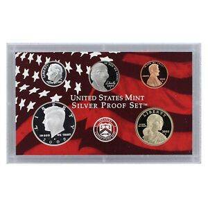 2008 S PARTIAL PROOF SET KENNEDY DIME NICKEL CENT 90  SILVER US MINT 5 COINS