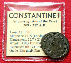 Click now to see the BUY IT NOW Price! GENUINE XF ROMAN COIN 310AD CONSTANTINE I FOLLIS SOL LONDON