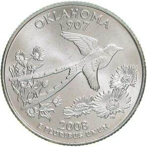 2008 P OKLAHOMA STATE QUARTER SATIN FINISH