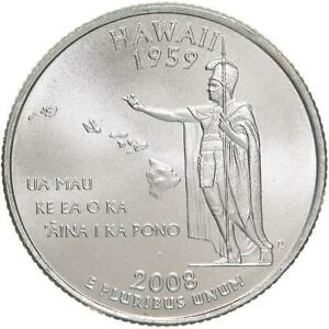 2008 P HAWAII STATE QUARTER SATIN FINISH