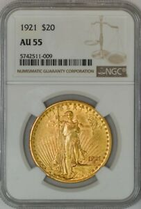 Click now to see the BUY IT NOW Price! 1921 $20 ST. GAUDENS AU55 NGC 942958 8