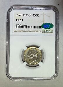 Click now to see the BUY IT NOW Price! 1940 NICKEL REVERSE OF 40 PF68 NGC CAC