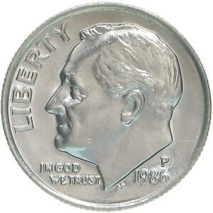 1986 P ROOSEVELT DIME BU US COIN
