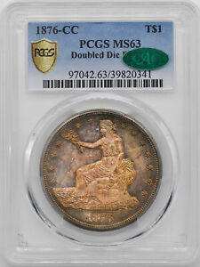 Click now to see the BUY IT NOW Price! 1876 CC TRADE T$1 PCGS MS 63
