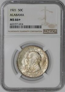 Click now to see the BUY IT NOW Price! 1921 ALABAMA 50C MS66  NGC 938842 3
