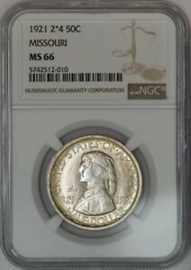 Click now to see the BUY IT NOW Price! 1921 MISSOURI HALF 50C 2X4 MS66 NGC 942580 7