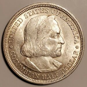 1893 COLUMBIAN COMMEMORATIVE SILVER HALF DOLLAR   BRILLIANT UNCIRCULATED