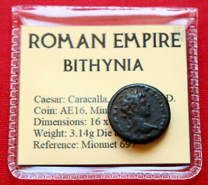 Click now to see the BUY IT NOW Price! ROMAN COIN 198AD AE16 CAESAR CARACALLA NICAEA BITHYNIA ALTAR GENUINE