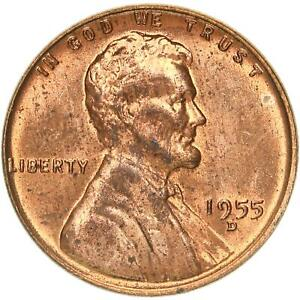 1955 D LINCOLN WHEAT CENT UNCIRCULATED PENNY US COIN