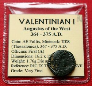 Click now to see the BUY IT NOW Price! VF ROMAN COIN 375AD VALENTINIAN I FOLLIS VICTORIA THESSALONICA GENUINE