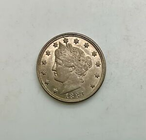 Click now to see the BUY IT NOW Price! 1883 LIBERTY NO  CENTS NICKEL PLEASING LUSTROUS NICE GRADE COIN ORIGINAL