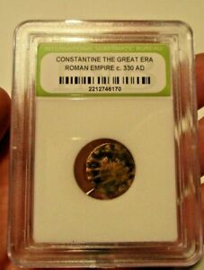 SLABBED ANCIENT ROMAN CONSTANTINE THE GREAT COIN C330 AD EXACT COIN SHOWN