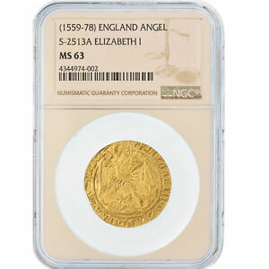 Click now to see the BUY IT NOW Price! [489692] COIN GREAT BRITAIN ELIZABETH ANGE D'OR GOLD ANGEL NGC MS63