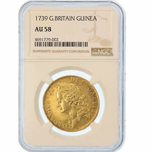 Click now to see the BUY IT NOW Price! [489691] MNZE GROBRITANNIEN GEORGE II 2 GUINEAS 1739 NGC AU58 GOLD
