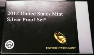2012 S US MINT SILVER PROOF SET IN BOX WITH COA  14 COIN SET   KEY DATE   EM805