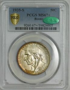Click now to see the BUY IT NOW Price! 1935 S BOONE 50C MS67  SECURE PLUS PCGS   CAC 942800 4