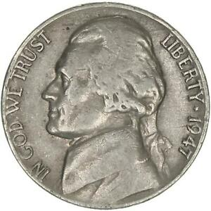 1947 D JEFFERSON NICKEL FINE VF