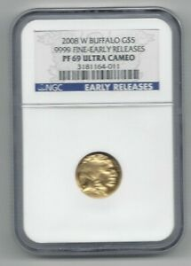 2008 W GOLD $5 BUFFALO NGC PF69 EARLY RELEASES