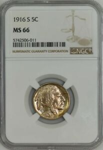 Click now to see the BUY IT NOW Price! 1916 S BUFFALO NICKEL 5C MS66 NGC 942712 3