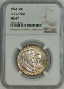 Click now to see the BUY IT NOW Price! 1924 HUGUENOT 50C MS67 NGC 942887 19