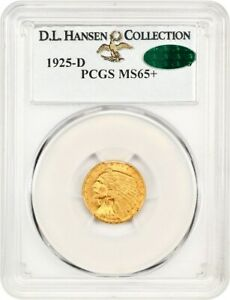 Click now to see the BUY IT NOW Price! 1925 D $2 1/2 PCGS/CAC MS65  EX: D.L. HANSEN   HIGH END GEM    HIGH END GEM