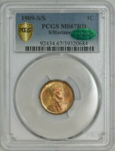 Click now to see the BUY IT NOW Price! 1909 S/S LINCOLN CENT 1C MS67RD PCGS SECURE CAC 942253 2   NONE FINER