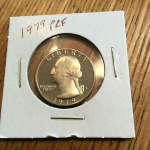 1979 WASHINGTON QUARTER CLAD PROOF FROM COMPLETE US PROOF SET