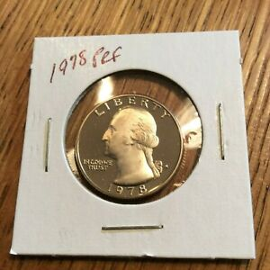 1978 WASHINGTON QUARTER CLAD PROOF FROM COMPLETE US PROOF SET